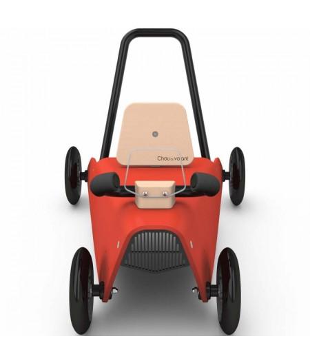 Porteur voiture - 2 jouets en 1 ROUGE