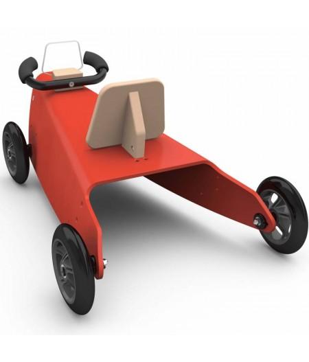 Porteur draisienne voiture - 3 jouets en 1 ROUGE