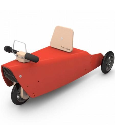 Jouet voiture 5 fonctions en 1 ROUGE