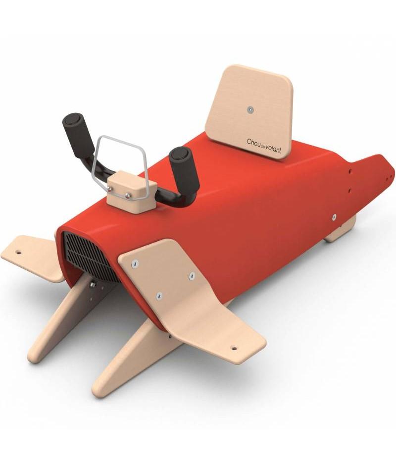 Avion à bascule - 2 jouets en 1 ROUGE