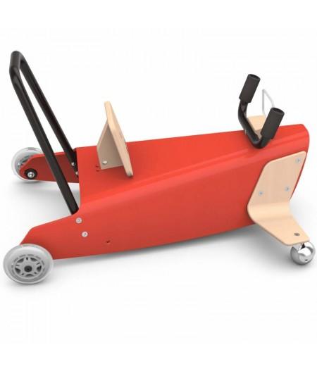 Bascule + porteur Avion 4 en 1 rouge