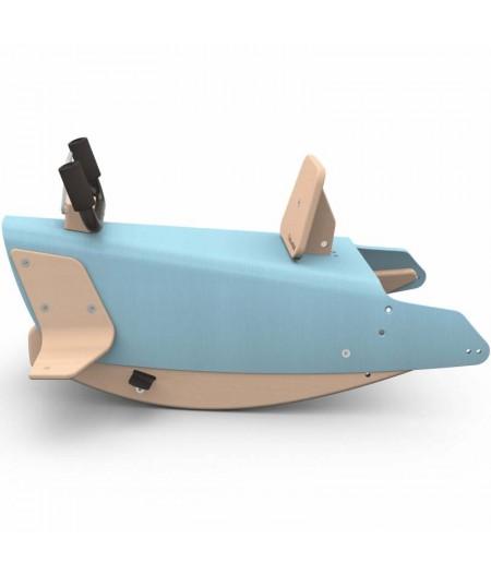 Bascule + porteur + draisienne Avion 5 en 1 bleu ciel