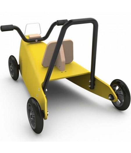 Porteur quad - 2 jouets en 1 jaune