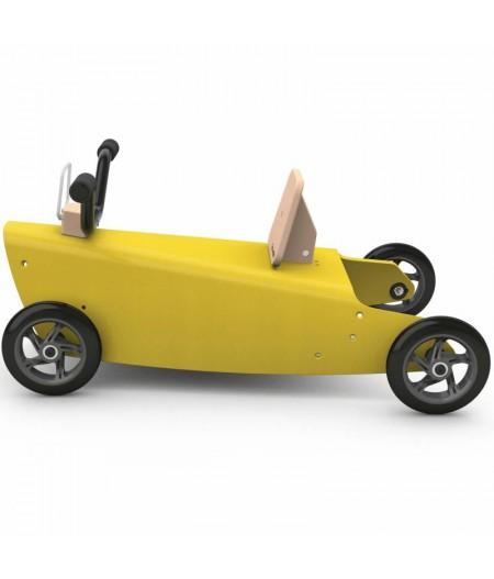 Porteur draisienne quad - 3 jouets en 1 JAUNE
