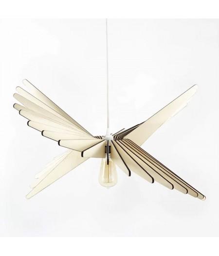 Suspension bois au design aérien