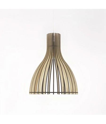 Suspension luminaire bois français