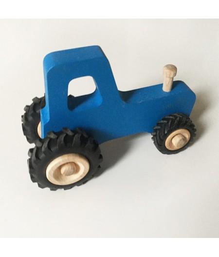 Tracteur en bois bleu made in france