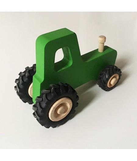 Jouet en bois 3 ans tracteur vert