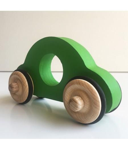 Jouet en bois petite voiture verte
