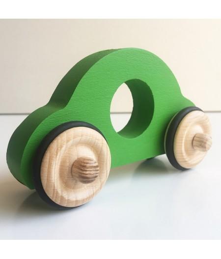Voiture en bois verte made in france