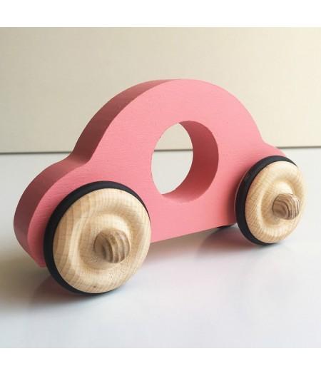 Voiture en bois rose made in france