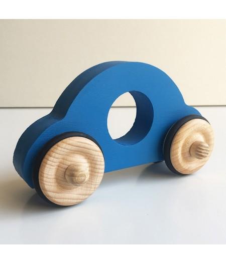 Voiture en bois bleue made in france