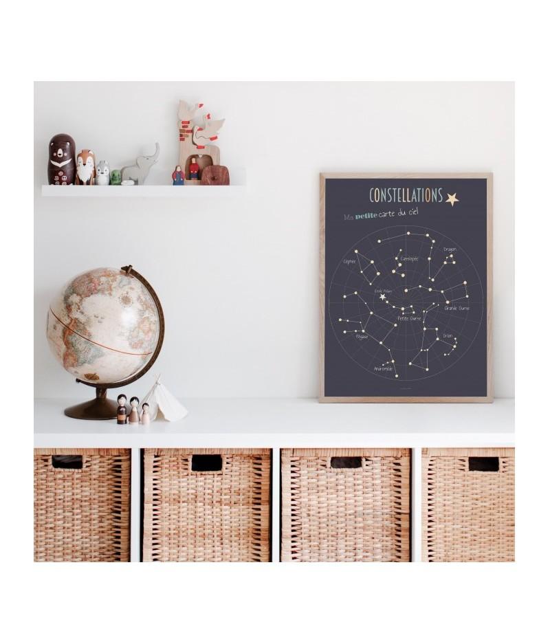Affiche décorative Constellations - Ma Petite Carte du Ciel
