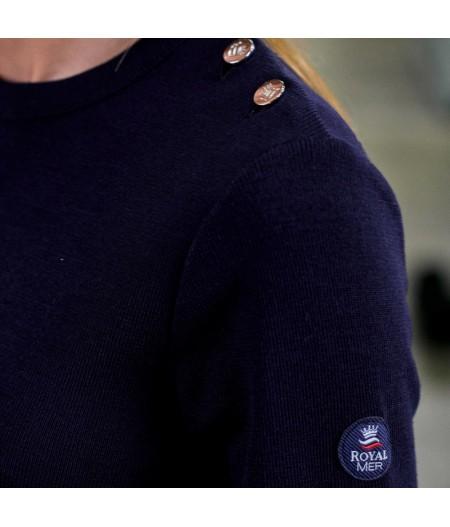 Pull marin uni KLASEL UF1 bleu marine