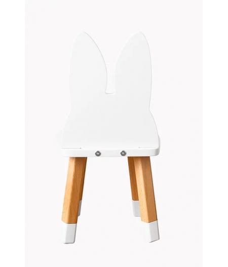 Chaise enfant lapin blanc