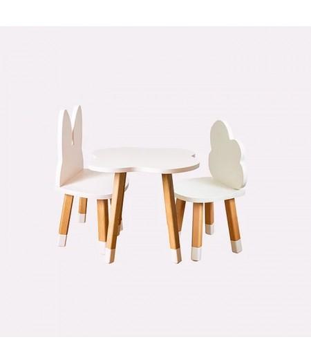 Ensemble scandinave chaises et table enfant