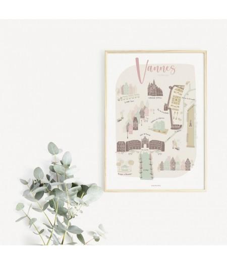 Affiche décorative Ma Jolie Ville - Vannes
