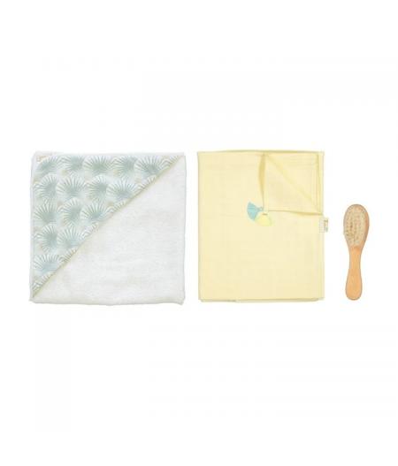 Cape de bain + Langue + brosse bébé palme