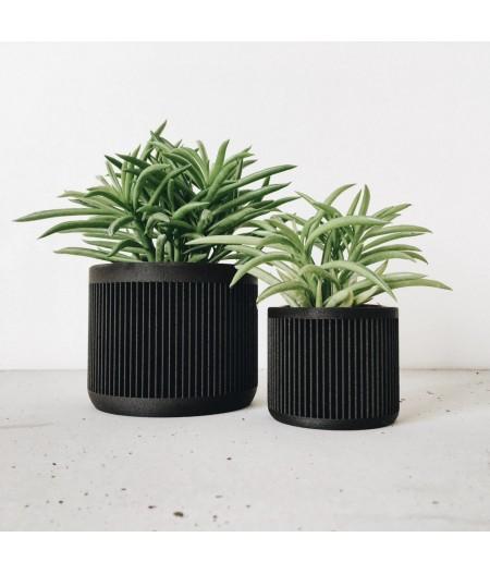 Petit pot noir pour plante d'intérieur et captus