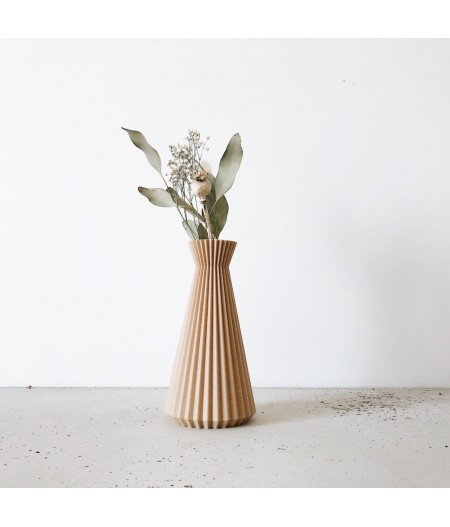 Vase en bois recyclé pour fleurs séchées