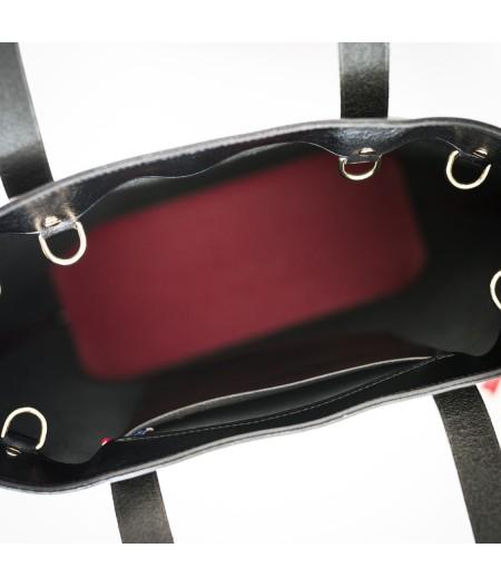 Intérieur sac à main en cuirs noir