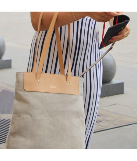 Grand sac en toile lin naturel