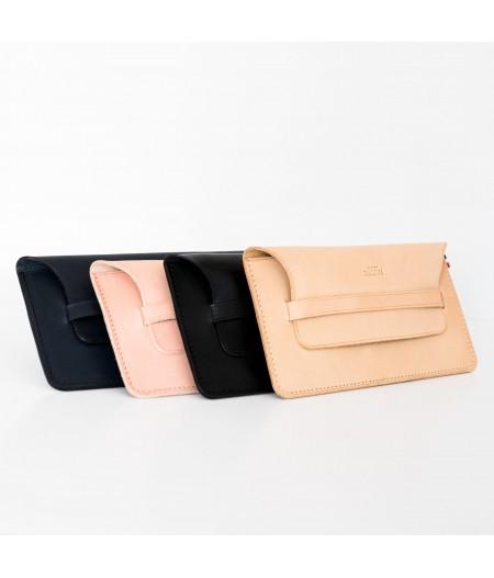 Pochette LOU en cuir made in France