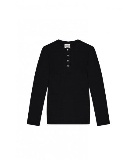 Tee-shirt en lin noir