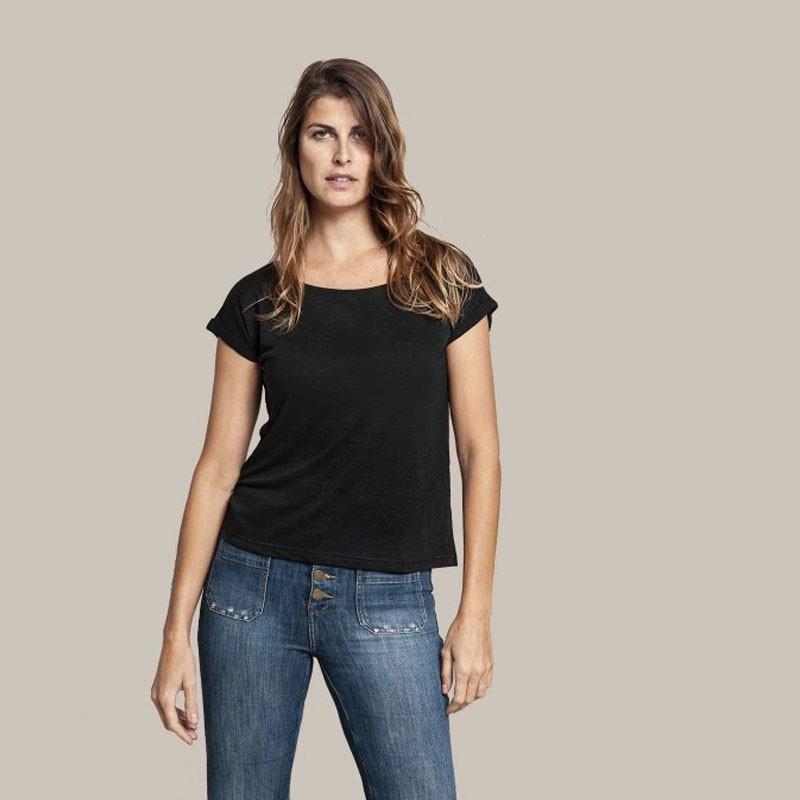 Tee-shirt en lin femme