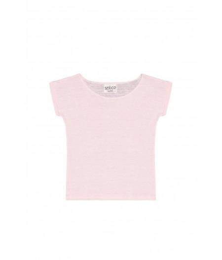 Tee-shirt en lin rose