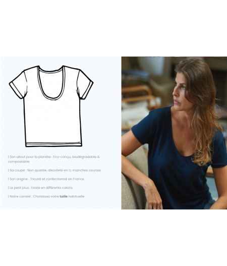 T-shirt tricoté en lin