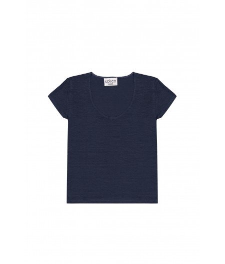 Tee-shirt en lin bleu