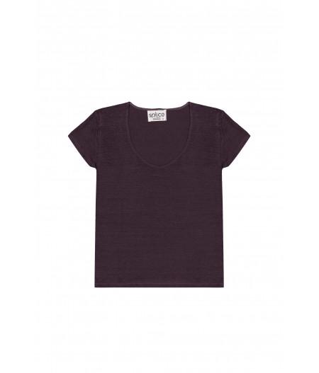 Tee-shirt en lin gris