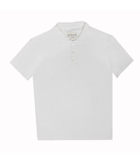 T-shirt tricoté en lin blanc