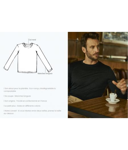 T-shirt tricoté en lin francais