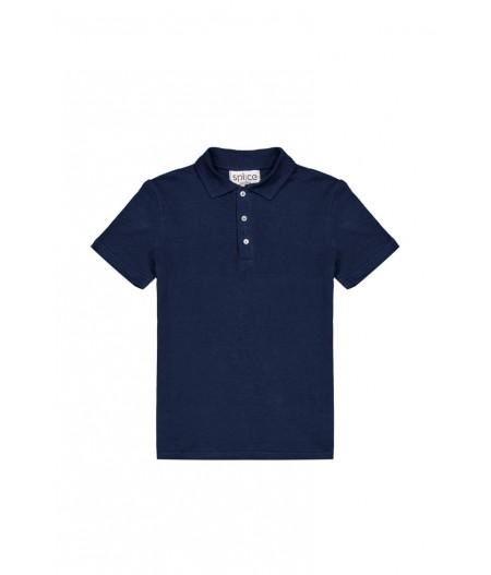 T-shirt en lin bio homme bleu
