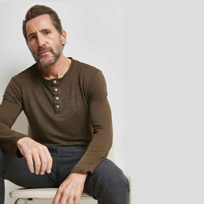 Tee-shirt tricoté en lin
