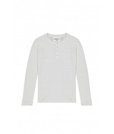 T-shirt en lin homme gris