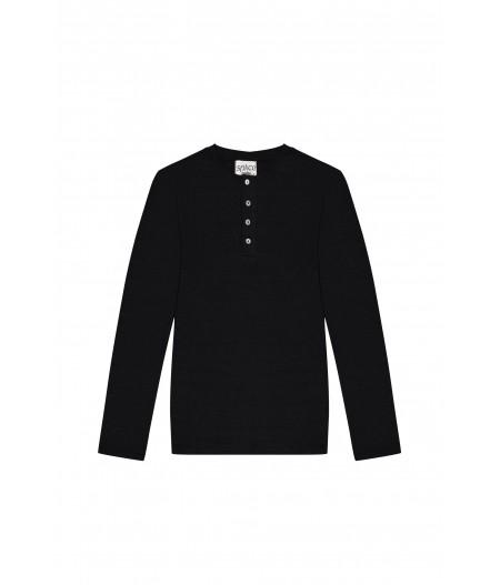 T-shirt en lin homme noir