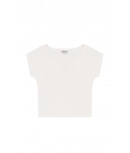 T-shirt en lin femme blanc