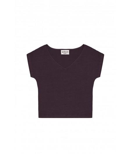 T-shirt en lin femme gris
