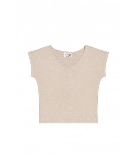 T-shirt en lin femme naturel