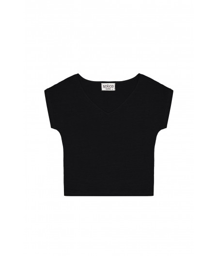 T-shirt en lin femme noir
