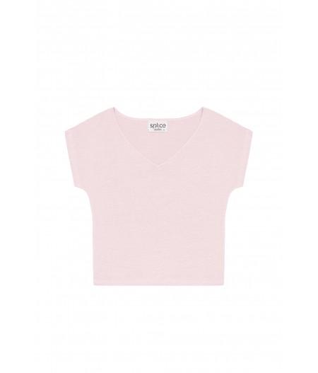 T-shirt en lin femme rose