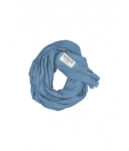 Echarpe en lin bleu