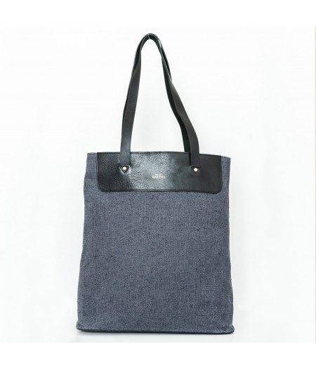 Grand sac en toile lin gris