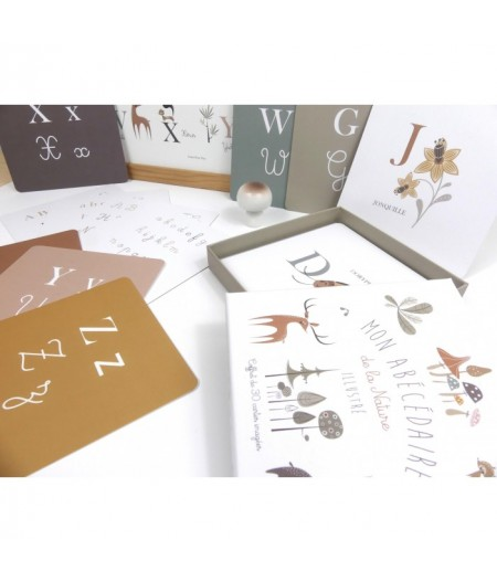 """Coffret Cartes Alphabet """"Mon Abécédaire de la Nature Illustré"""""""