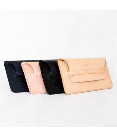Pochette ceinture en cuir francais