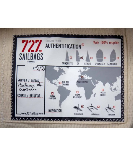 Sac voyage en lin et cuir 727 sailbags