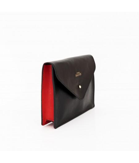 Pochette ceinture cuir rouge